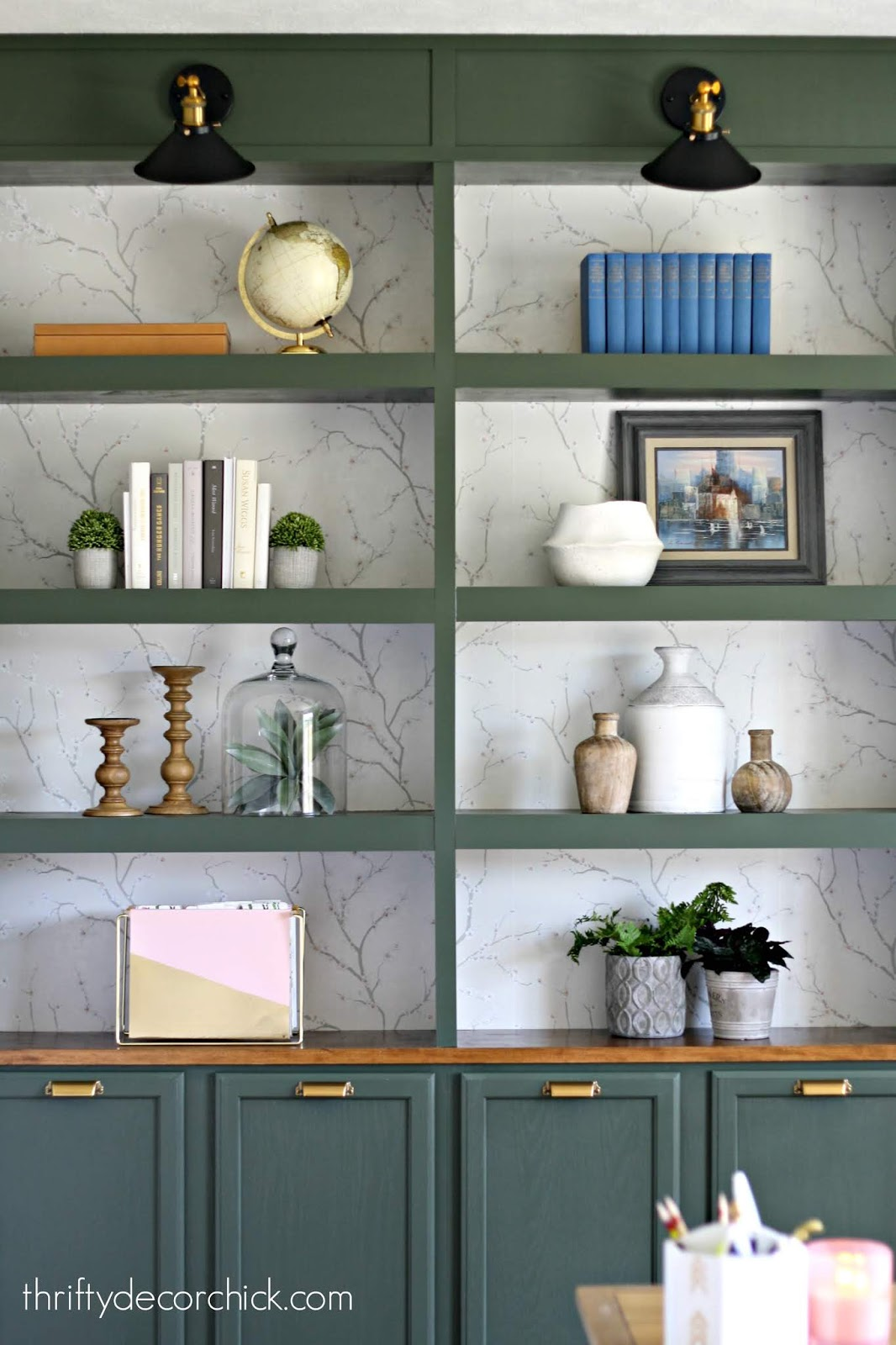 Tips for decorating built ins