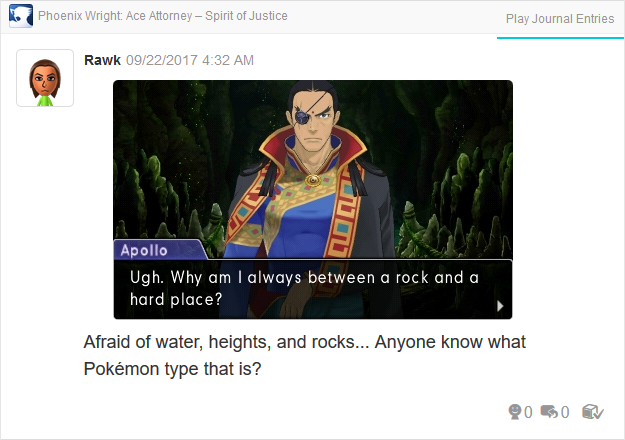 Phoenix Wright Ace Attorney Spirit of Justice Apollo between rock and hard place