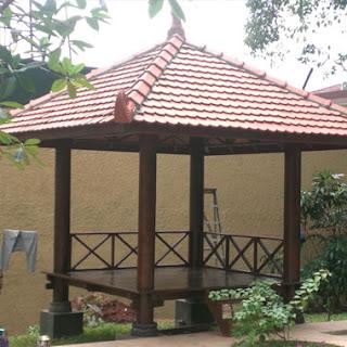 Gazebo Taman rumah keluarga