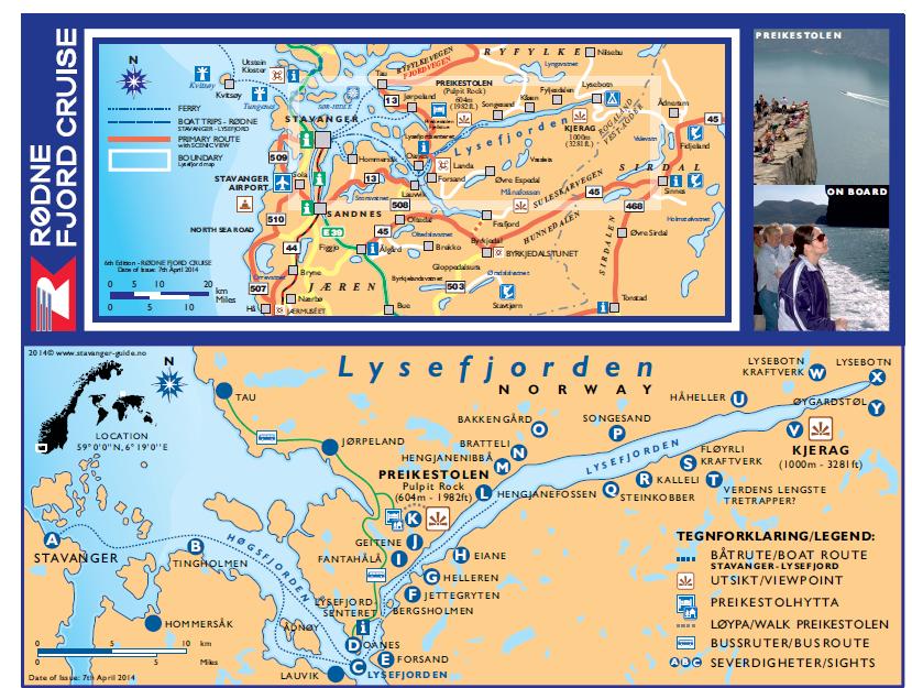 rodne lysefjord cruise