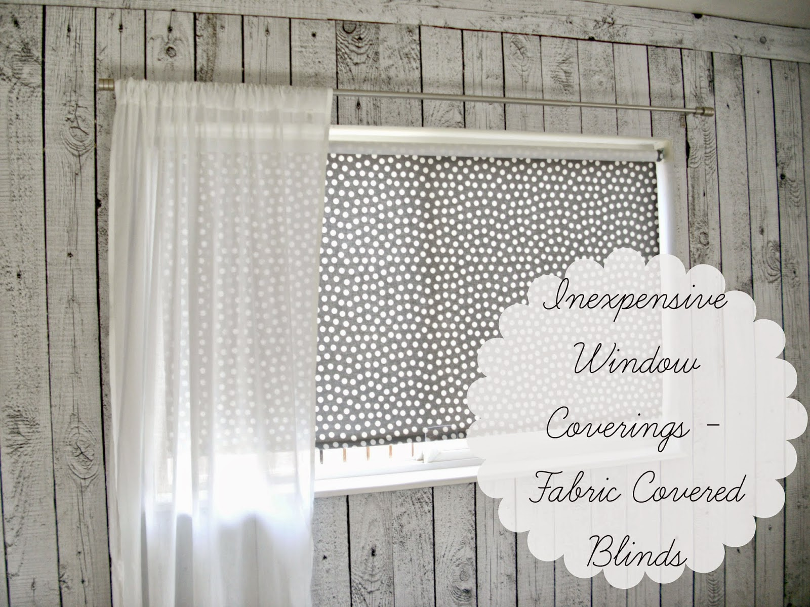 Fabric covered roller blinds