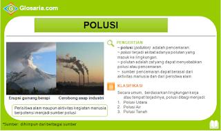 pengertian, klasifikasi, jenis, sumber, contoh polusi