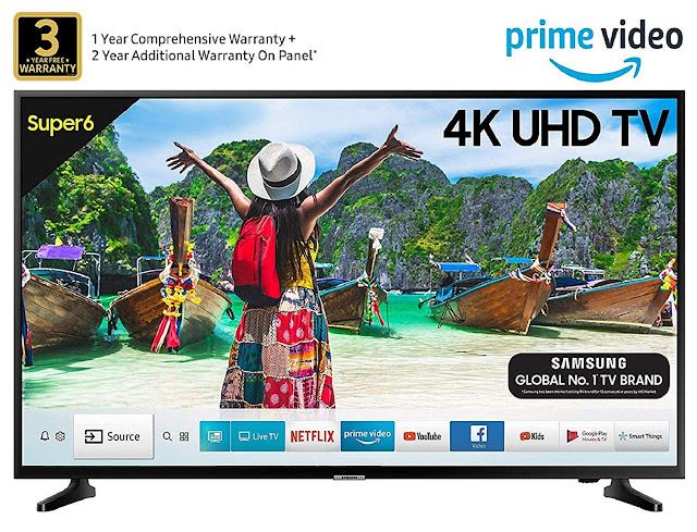 Samsung 125 cm (50 Inches) Super 6 Series 4K UHD LED Smart TV