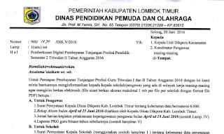 Pemberkasan Digital Pembayaran TPG Semester 2 Triwulan Il Tahun Anggaran 2016 Kabupaten Lombok Timur