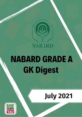 NABARD Grade A GK Digest: July 2021