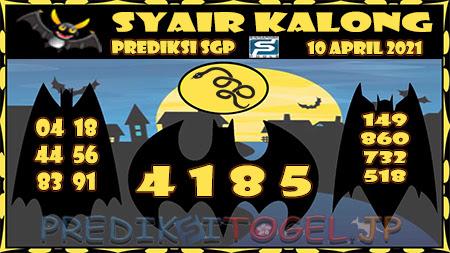 Prediksi Kalong SGP Sabtu 10-Apr-2021