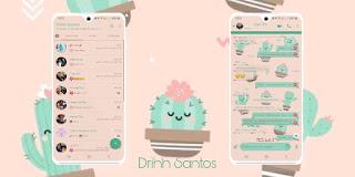 Cacto Cute Theme For YOWhatsApp & Fouad WhatsApp By Driih Santos
