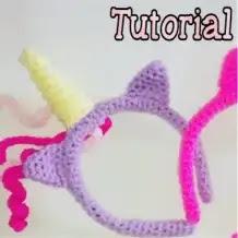 Diadema Unicornio a Crochet
