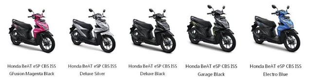 Harga Honda Beat Tipe eSP CBS ISS