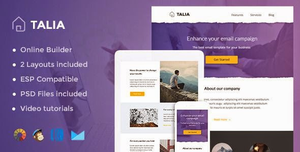 Talia - Modern Email Template + Online Editor