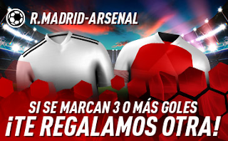 sportium promocion Real Madrid vs Arsenal 24 julio 2019