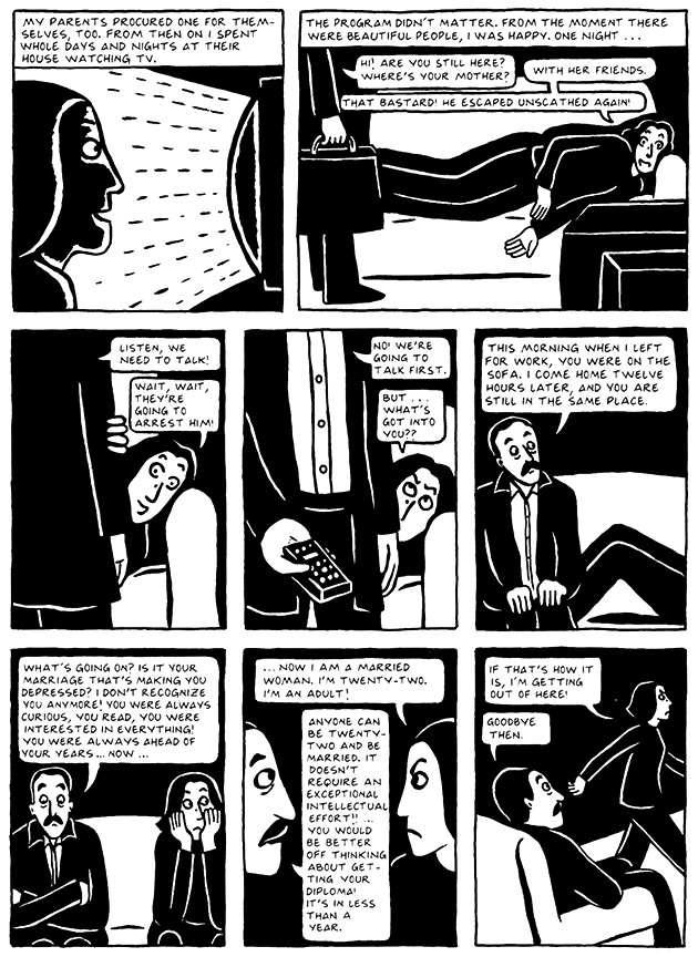 Read Chapter 18 - The Satellite, page 171, from Marjane Satrapi's Persepolis 2 - The Story of a Return