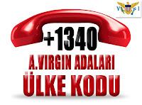 +1 340 Amerika Birleşik Devletleri Virgin Adaları ülke telefon kodu