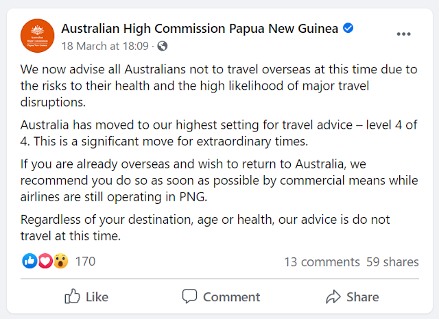 do not travel overseas australia