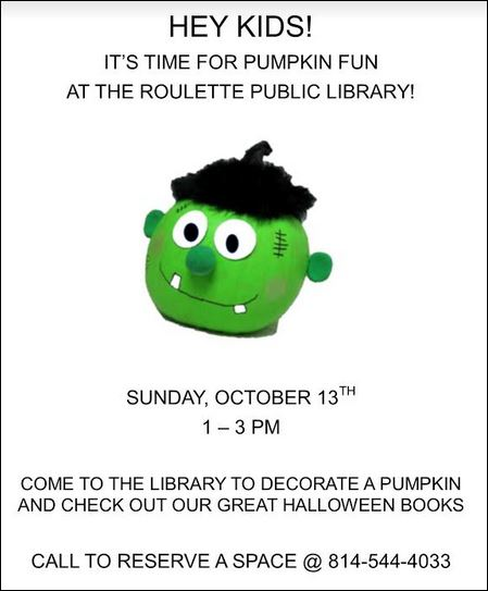 10-13 Pumpkin Fun, Roulette Library