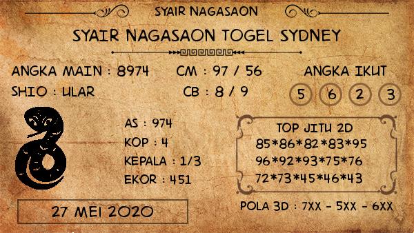 Prediksi Sydney Rabu 27 Mei 2020 - Nagasaon