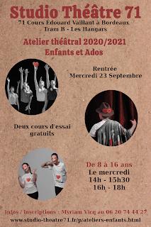 Prospectus cours théâtre jeunesse