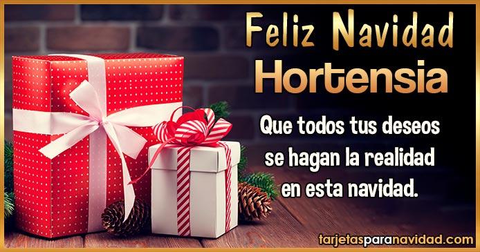 Feliz Navidad Hortensia
