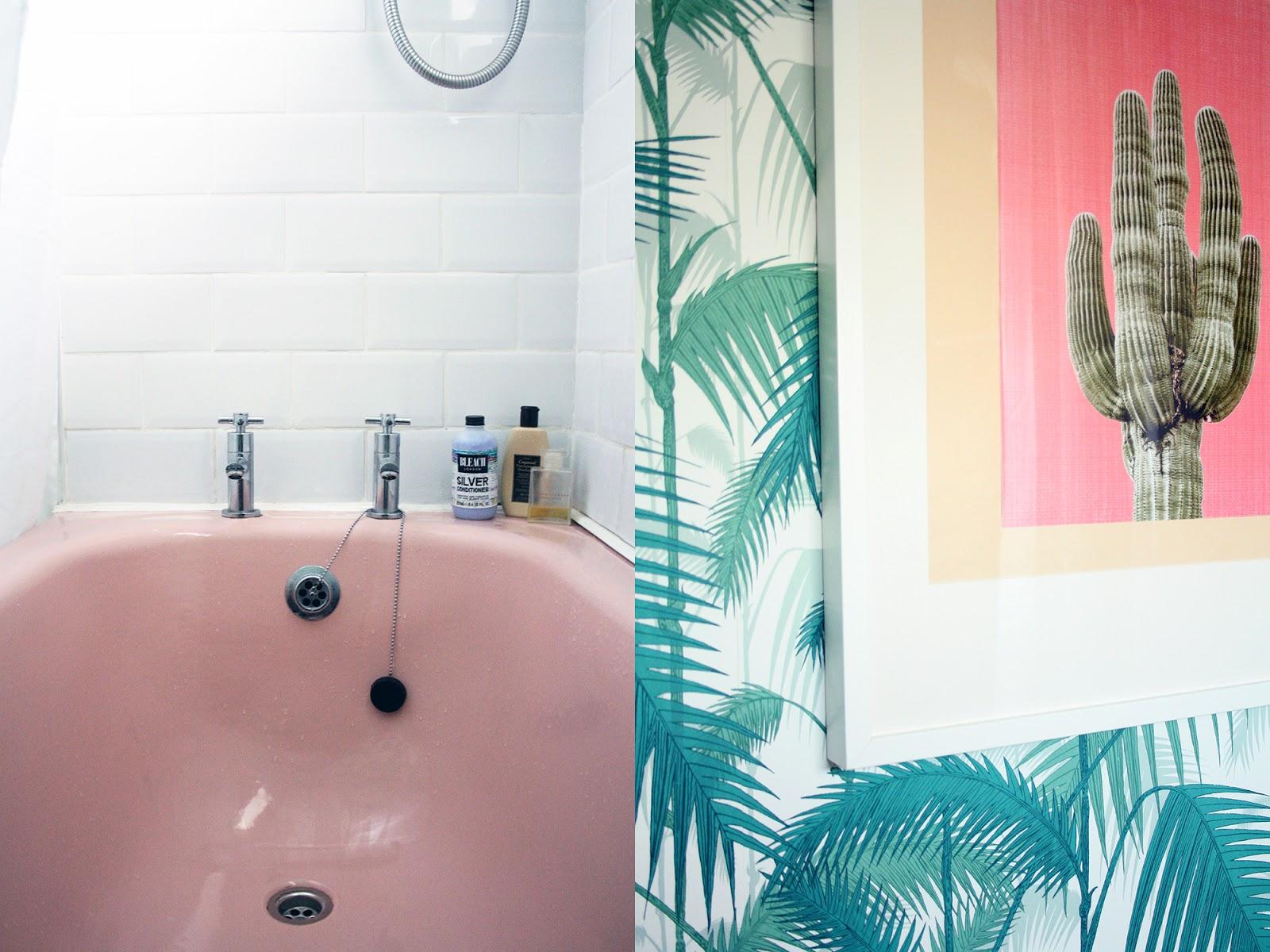 Turquoise Flamingo New Home Bathroom
