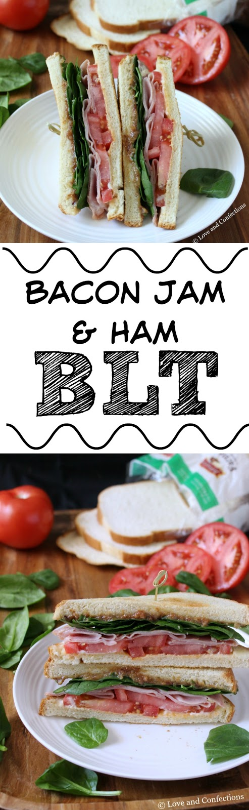 Bacon Jam & Ham BLT from LoveandConfections.com #SandwichWithTheBest