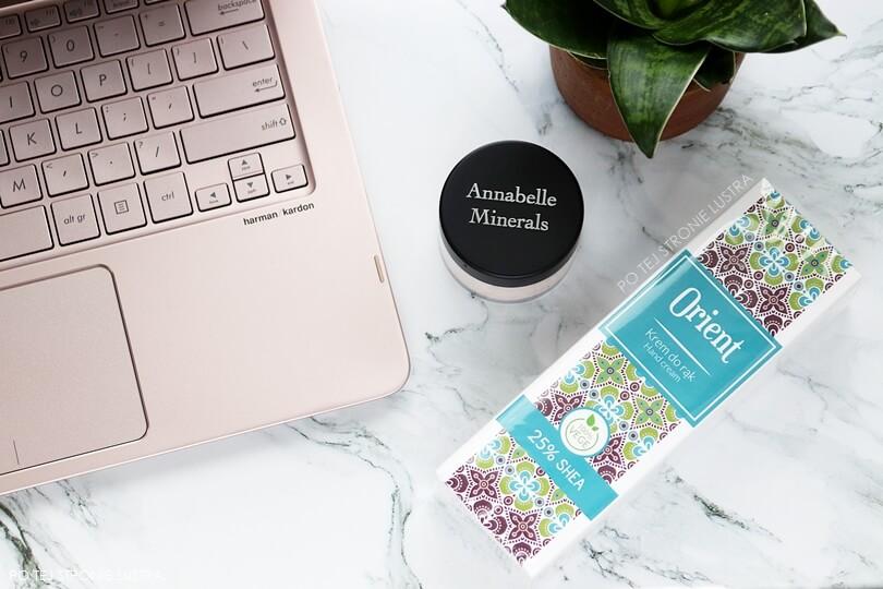 podkład mineralny annabelle minerals i krem do rąk scandia cosmetics