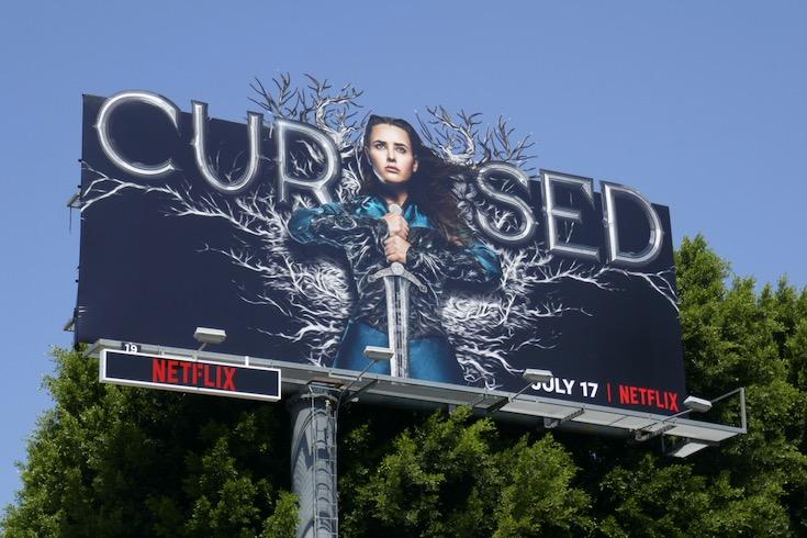 Cursed series premiere billboard