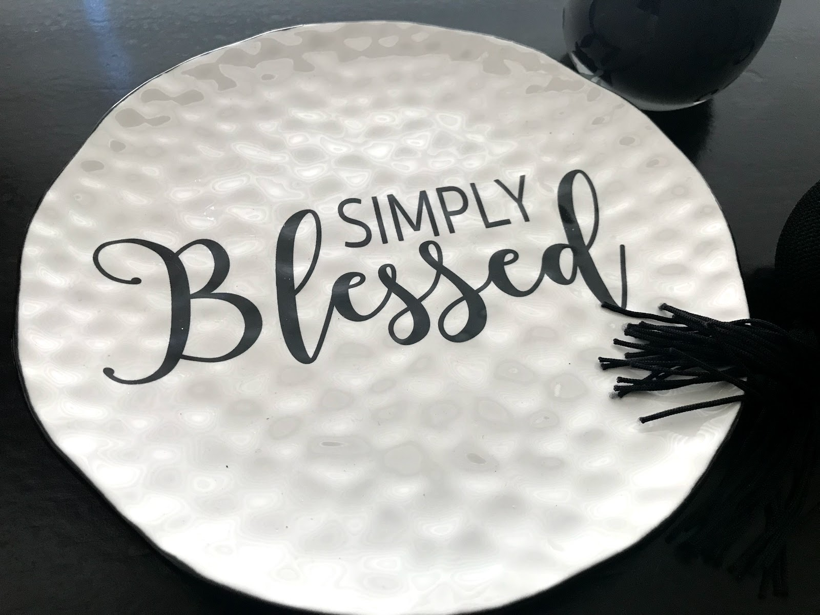 Image: Simply Blessed Plate on Table