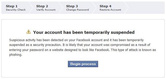 How do i suspend my facebook account