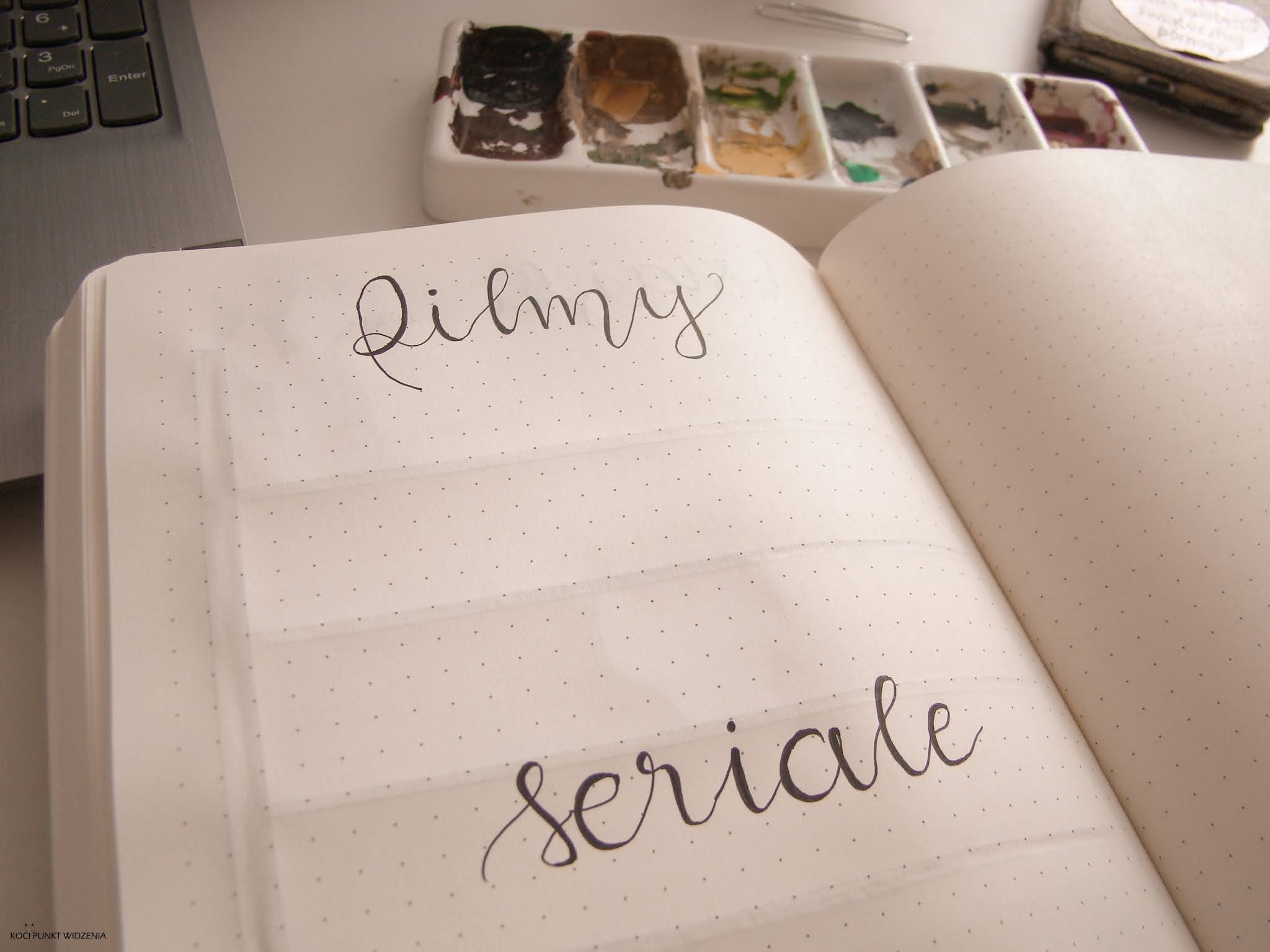 filmy, seriale bullet journal