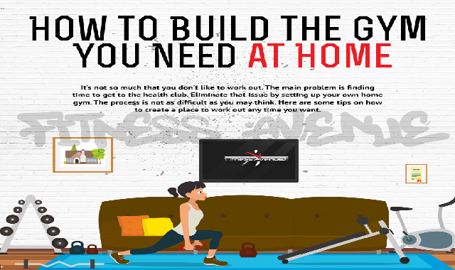 How to Build the Gym You Need at Home #infographic