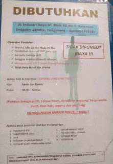 Lowongan kerja PT Strawland Cikupa Tangerang Kawasan Jatake Terbaru 2020