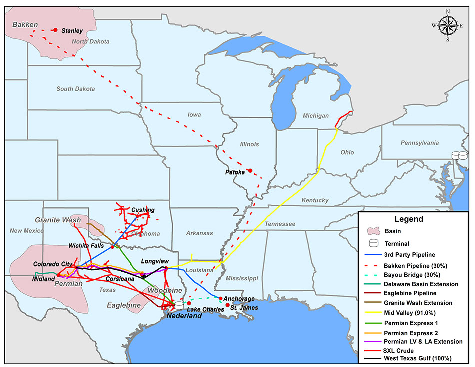 Texas Natural Gas Pipeline Map