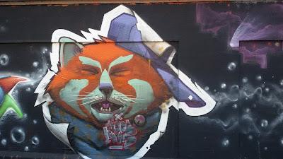 Fuchs im Poster-Style, Mr. Woodland, Tumblingstraße, Graffiti, Streetart