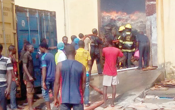 spiritual fire destroys dangote noodles factory