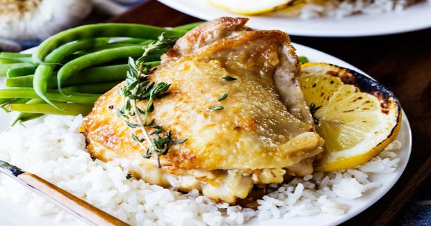 Skillet Garlic Lemon Chicken With White Wine Sauce Recipe