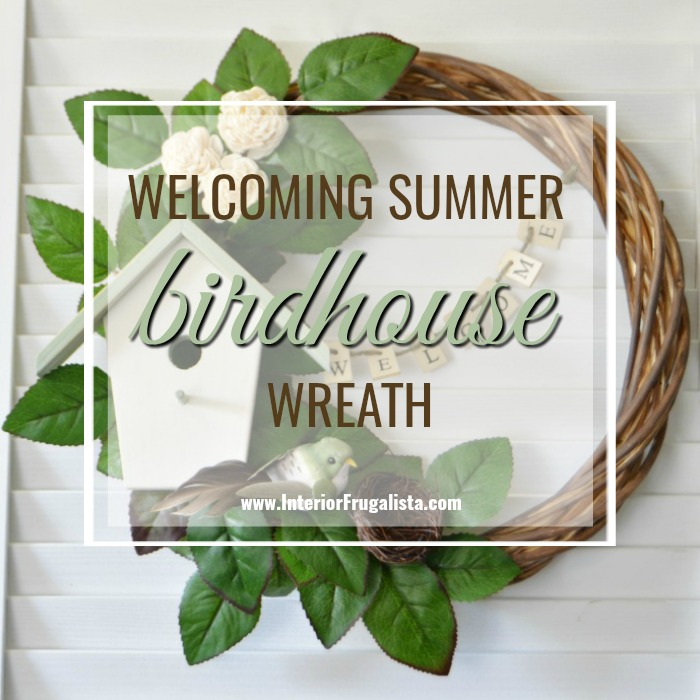 Welcoming Summer Birdhouse Wreath