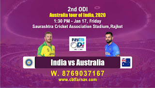 today match prediction Ind vs Aus 2nd ODI