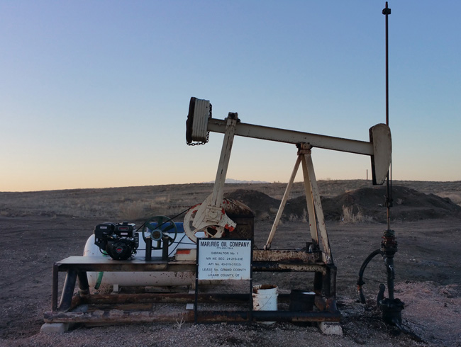 Oil Well in Cisco Utah ghost town