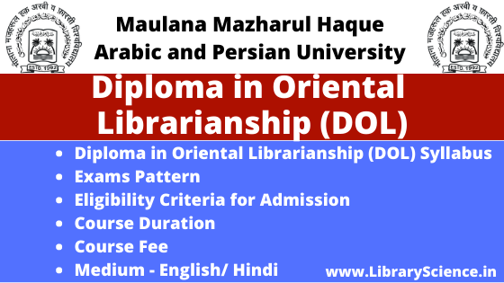 Diploma in Oriental Librarianship
