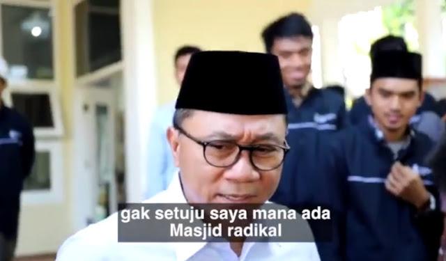 Ketua MPR: Jangan Pernah Bilang Masjid Radikal!
