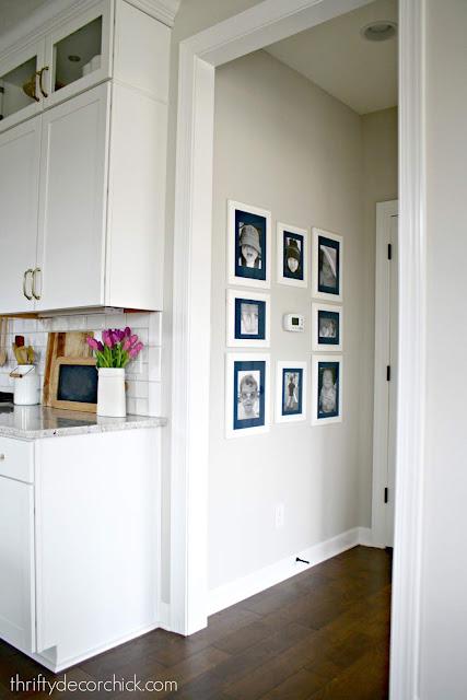 Photo wall around thermostat