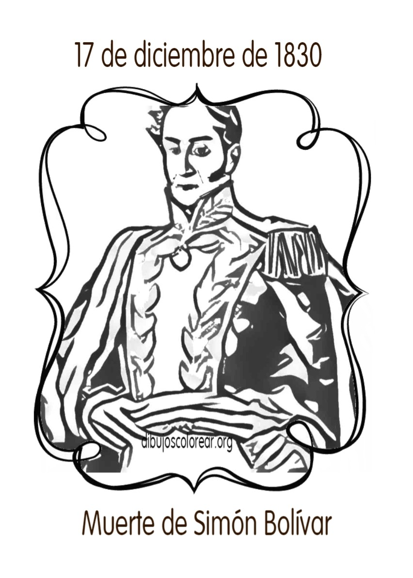 Dibujos Para Pintar Muerte De Simón Bolívar 17 De Diciembre