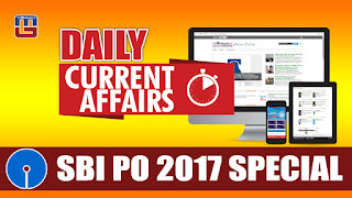 DAILY CURRENT AFFAIRS | SBI PO 2017 | 16.03.2017