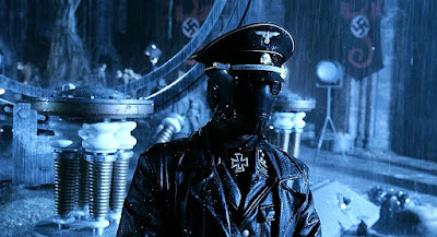 Movie still for 2004's Dark Horse comic of Hellboy featuring Ladislav Beran playing Karl Ruprecht Kroenen wearing a nazi outfit during WWII