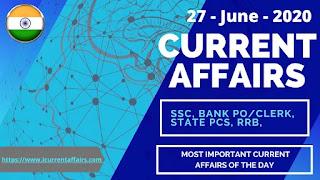 27-June-2020-Current-Affairs