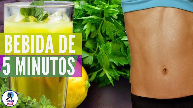 Bebida para Quemar Calorías a Base de Limón y Perejil - Adelgazar Now