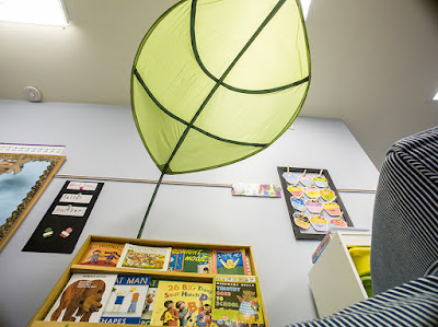 Create a cozy classroom reading nook with IKEA leaf.