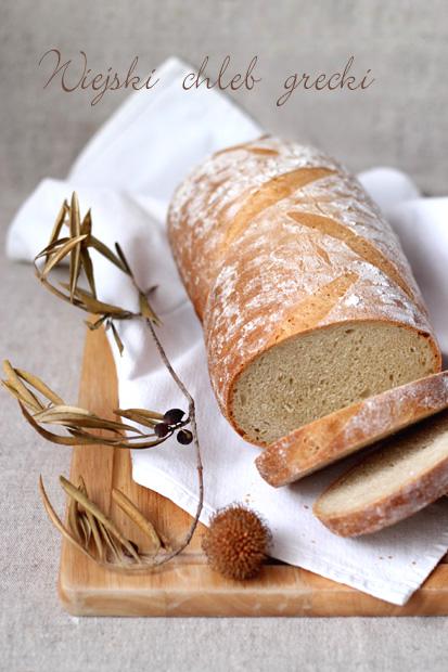 wiejski chleb grecki pszenno-kukurydziany