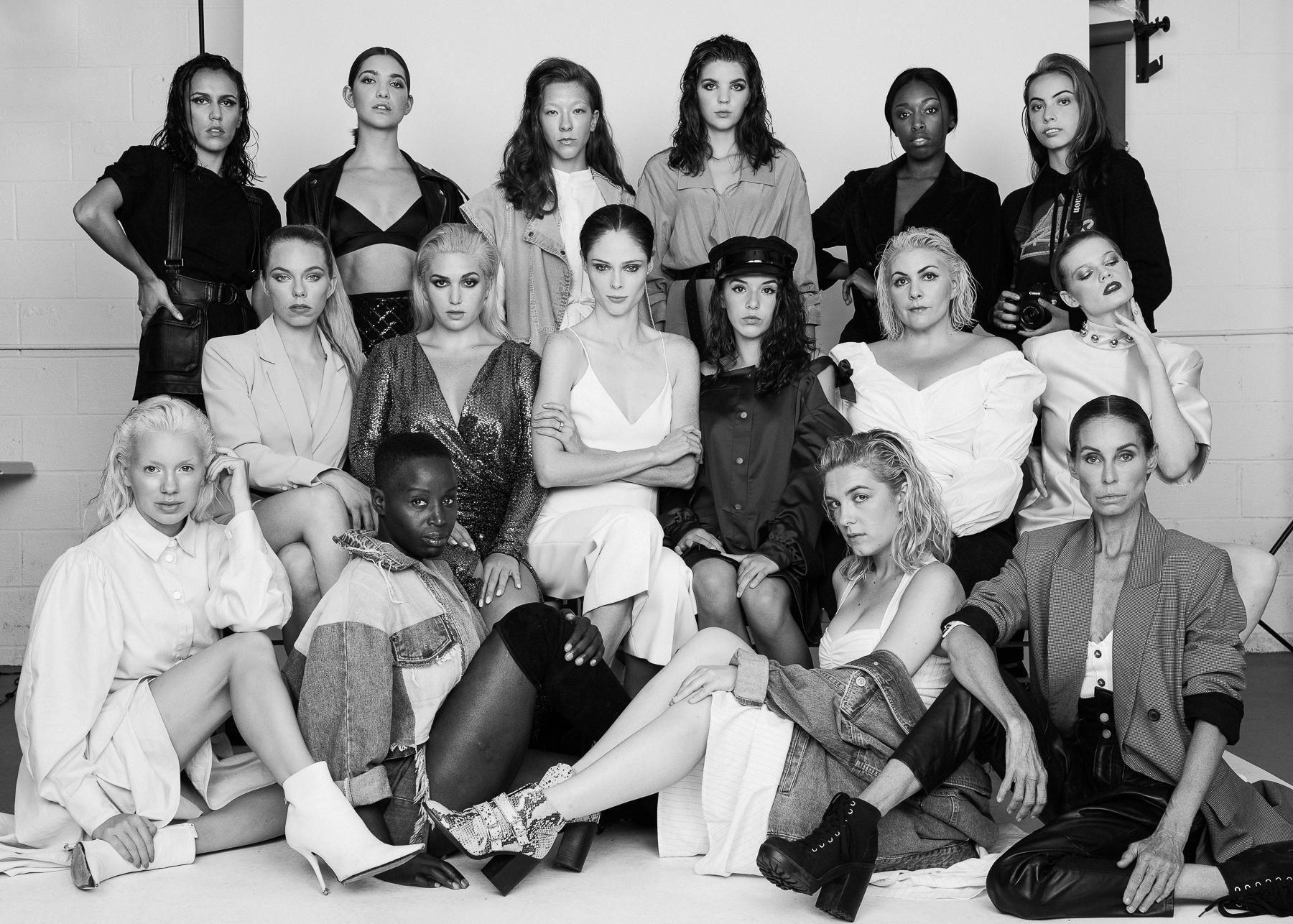 Modelos del Coco Rocha Model Camp 2019 con la participación de la chilena Florencia Swinburn
