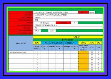 Download Aplikasi Olah Nilai Semester Siswa Terbaru 2017